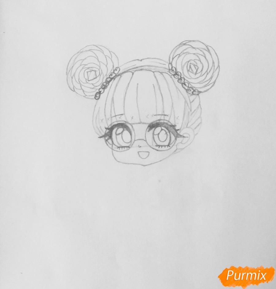 Рисуем милую чиби девочку в очках и с леденцом в руке - шаг 4