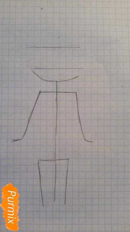 Рисуем милую чиби девочку в свитере - шаг 1