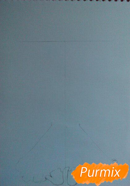 Рисуем милую чиби-тян цветными карандашами - шаг 1