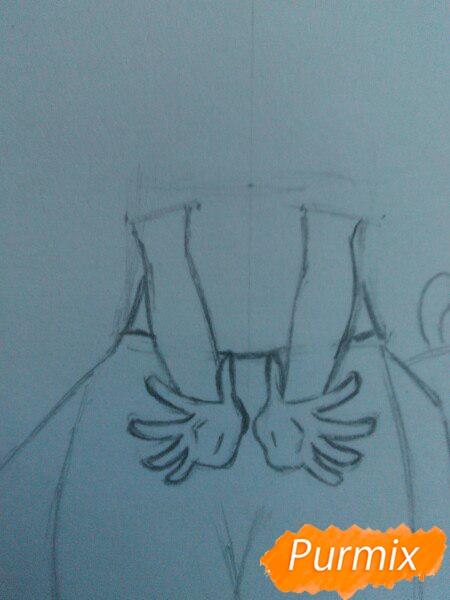 Рисуем милую чиби-тян цветными карандашами - шаг 4