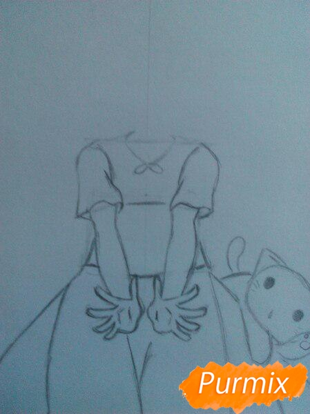 Рисуем милую чиби-тян цветными карандашами - шаг 5