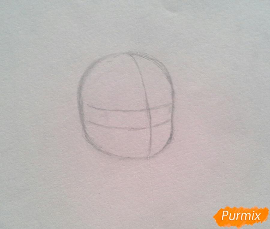 Рисуем Мохито-тян в стиле чиби карандашами - шаг 1