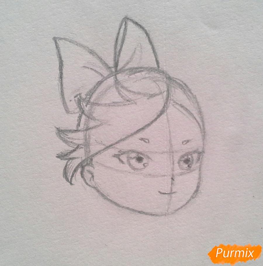 Рисуем Мохито-тян в стиле чиби карандашами - шаг 7
