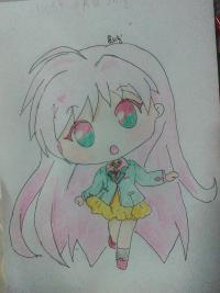 Рисунок Моку Акасию в стиле чиби