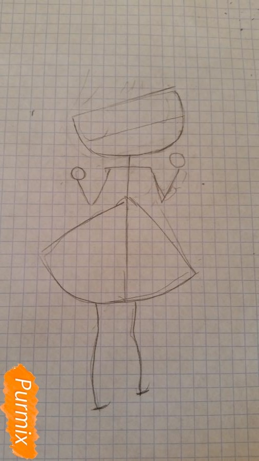 Рисуем новогоднюю чиби девочку - фото 1