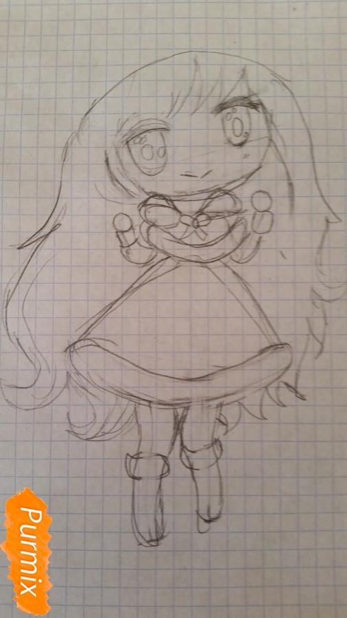 Рисуем новогоднюю чиби девочку - фото 3