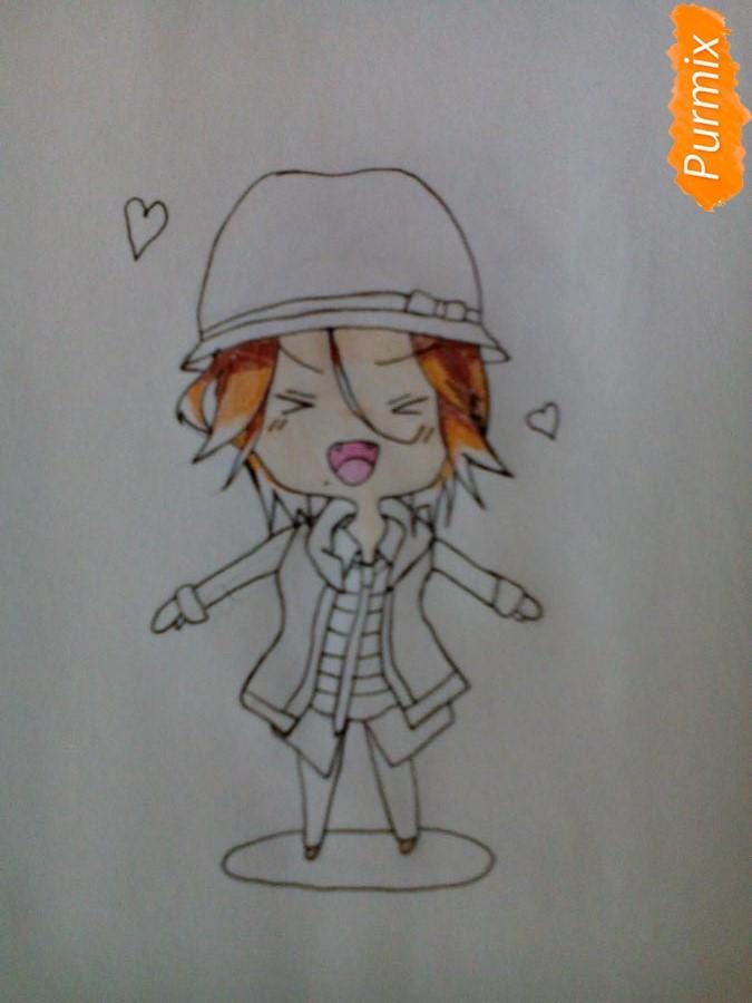 Рисуем Райто Сакамаки в стиле чиби - шаг 6