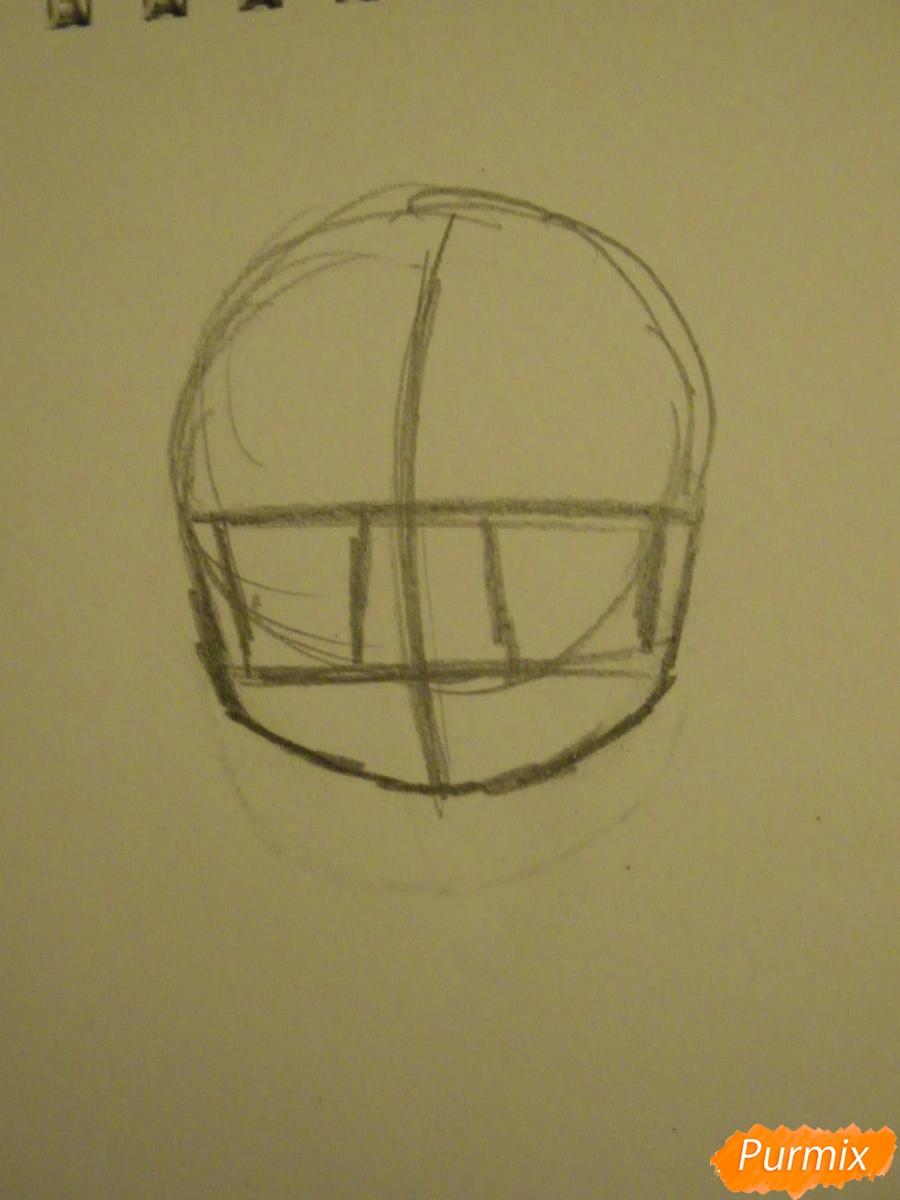 Рисуем синюю девочку лисицу в стиле чиби карандашами - шаг 1