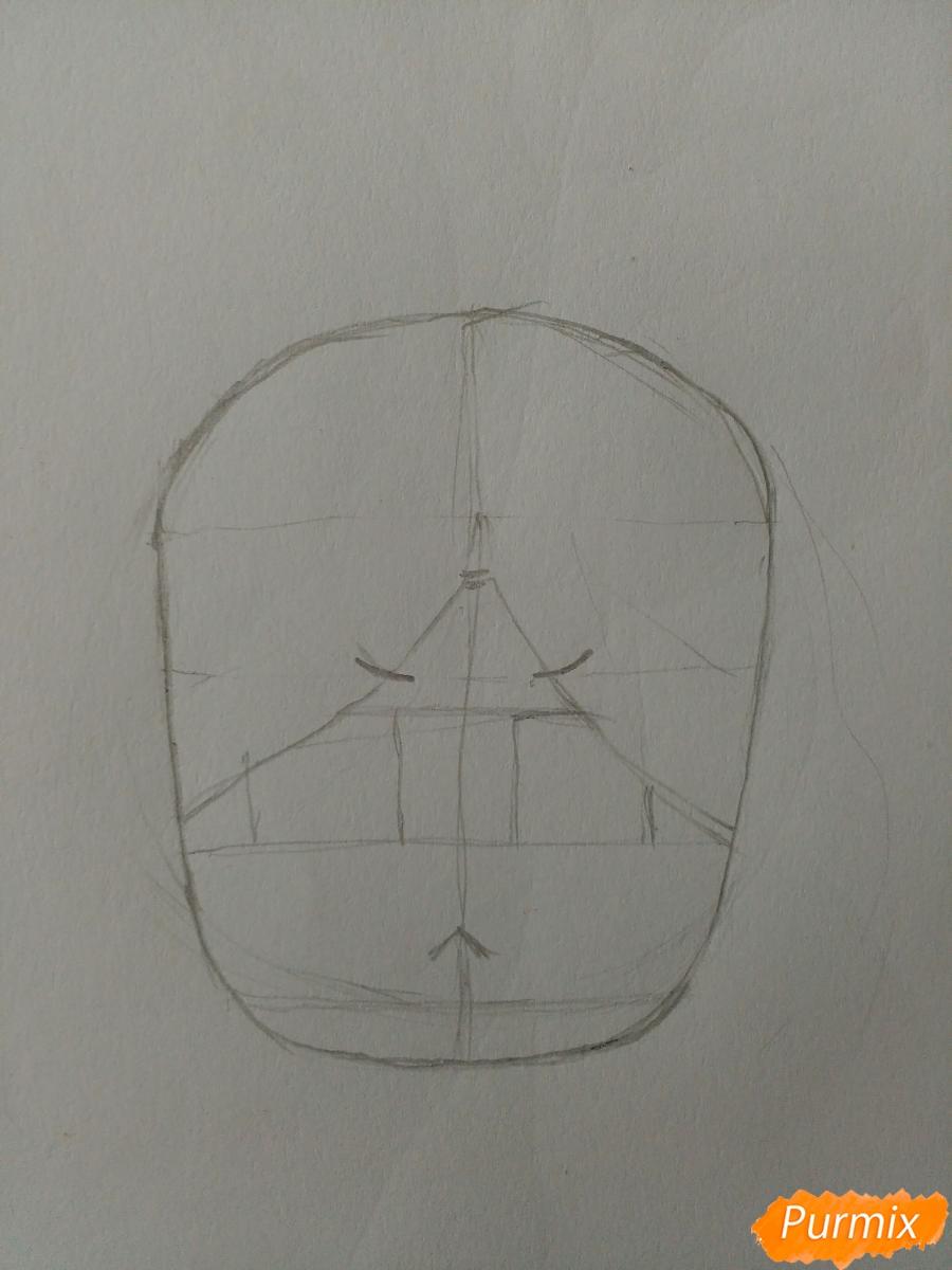 Рисуем Суирен в стиле чиби из манги каждый день бабочки - шаг 2