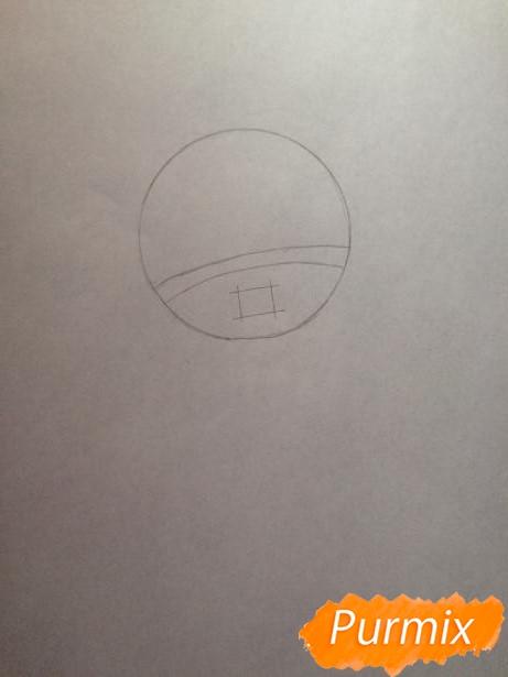 Рисуем тян c ушками в стиле чиби карандашами - шаг 1