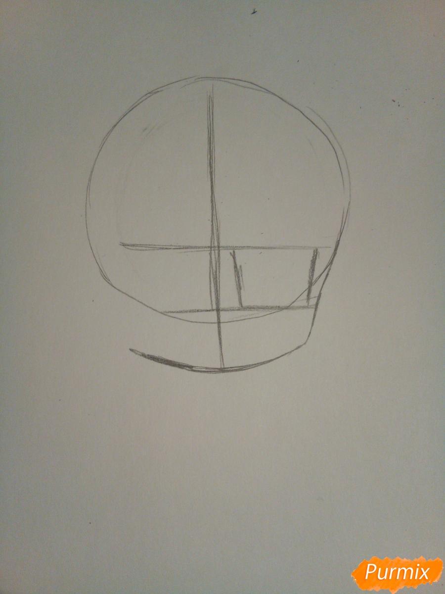 Рисуем в стиле чиби Субару Сакамаки - шаг 1