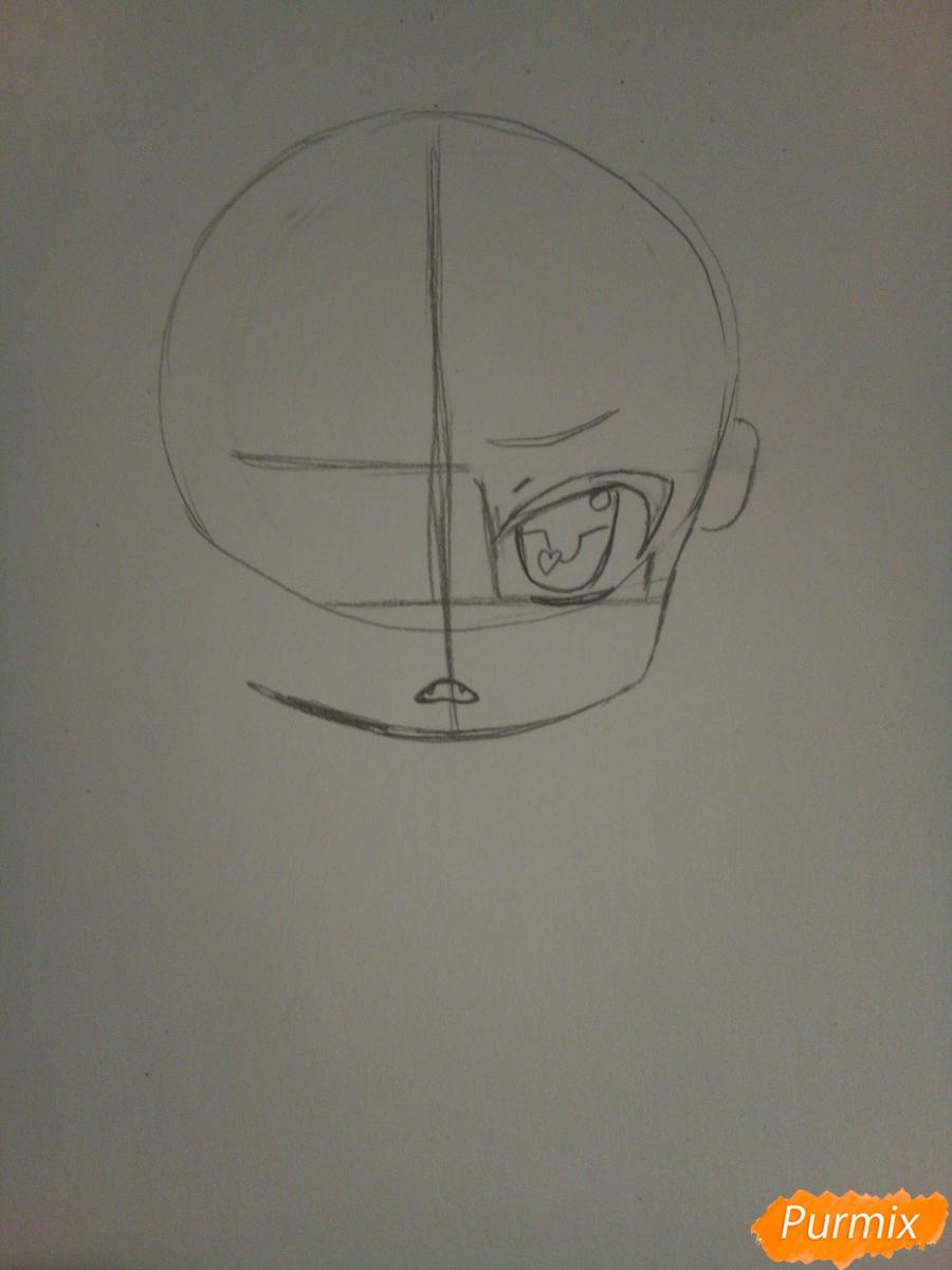 Рисуем в стиле чиби Субару Сакамаки - шаг 2