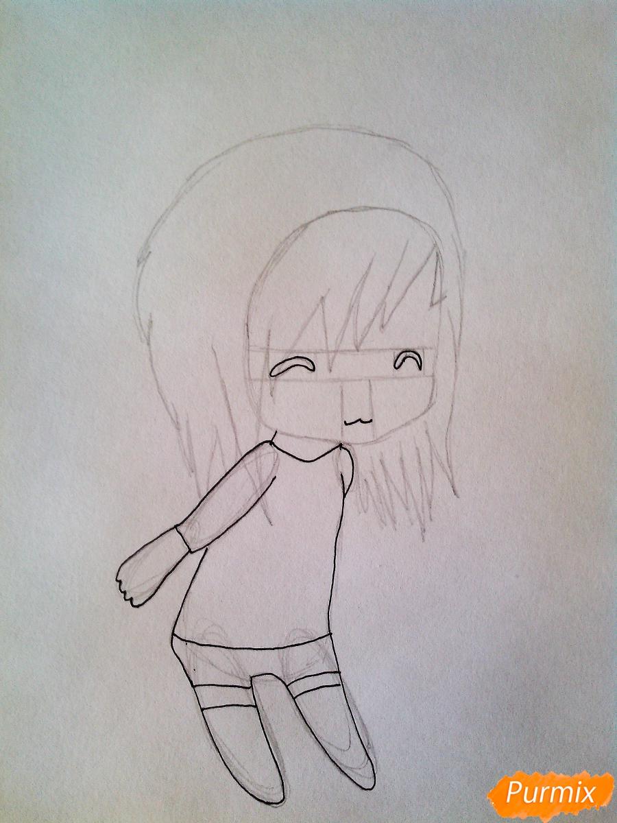 Рисуем лицо девочки и мальчика