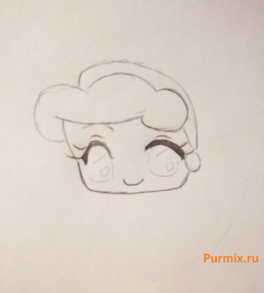 Рисуем Золушку в стиле чиби простым