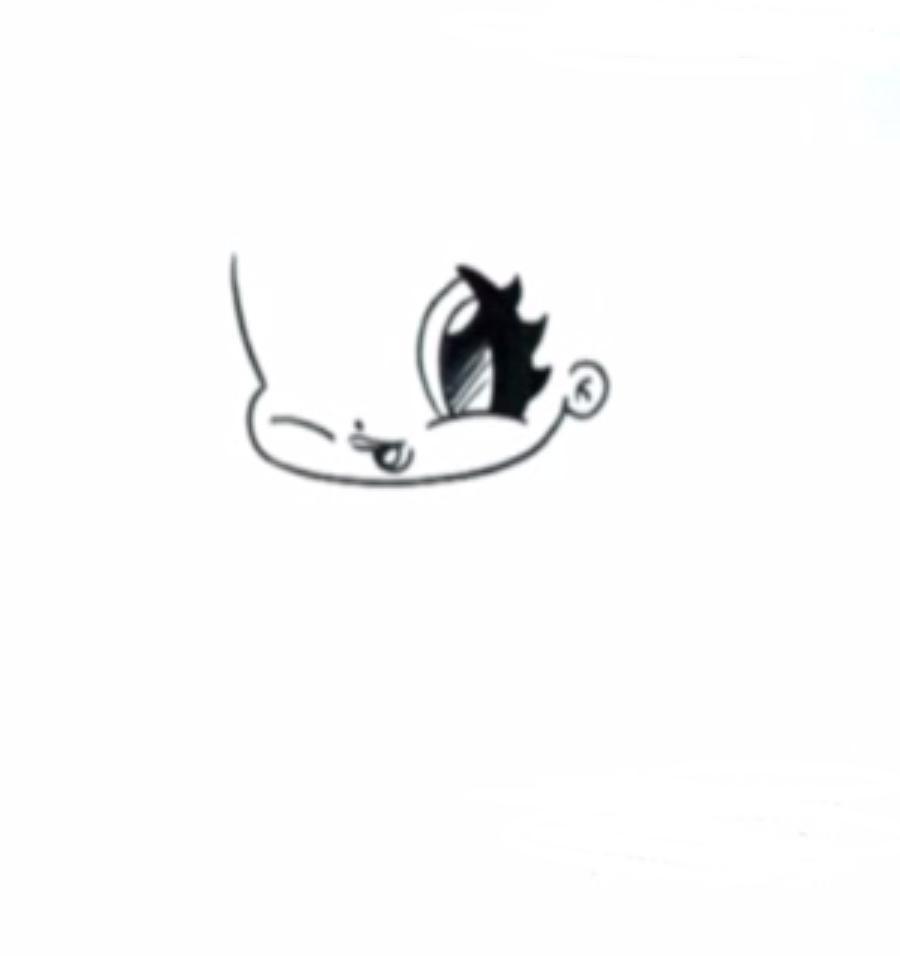 Рисуем Анну в стиле чиби - шаг 2