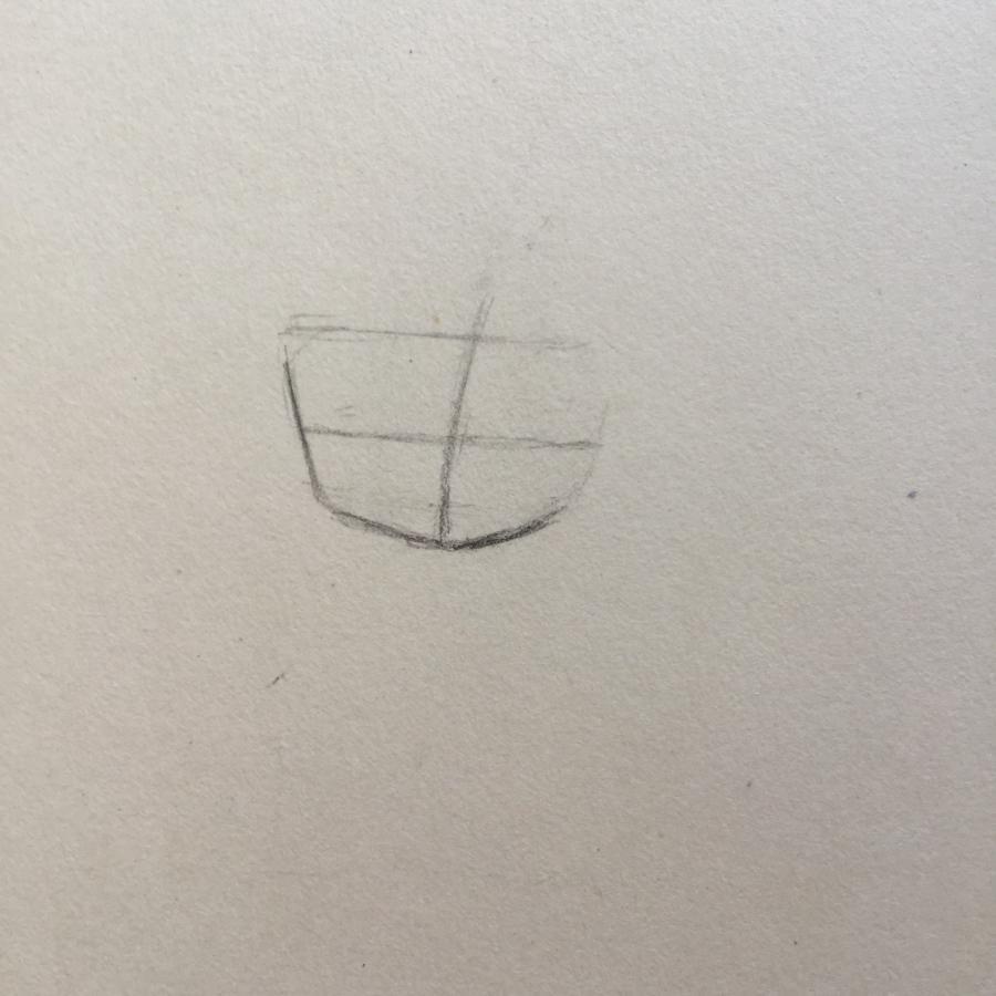 Рисуем чиби - девочку с бантиком - шаг 1