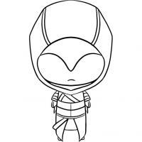 Фото чиби Альтаира из Assassins Creed карандашом