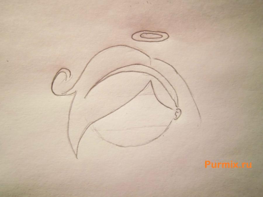 Рисуем чиби ангела простым