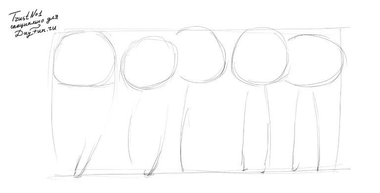 Рисуем милых чиби няшек - шаг 1