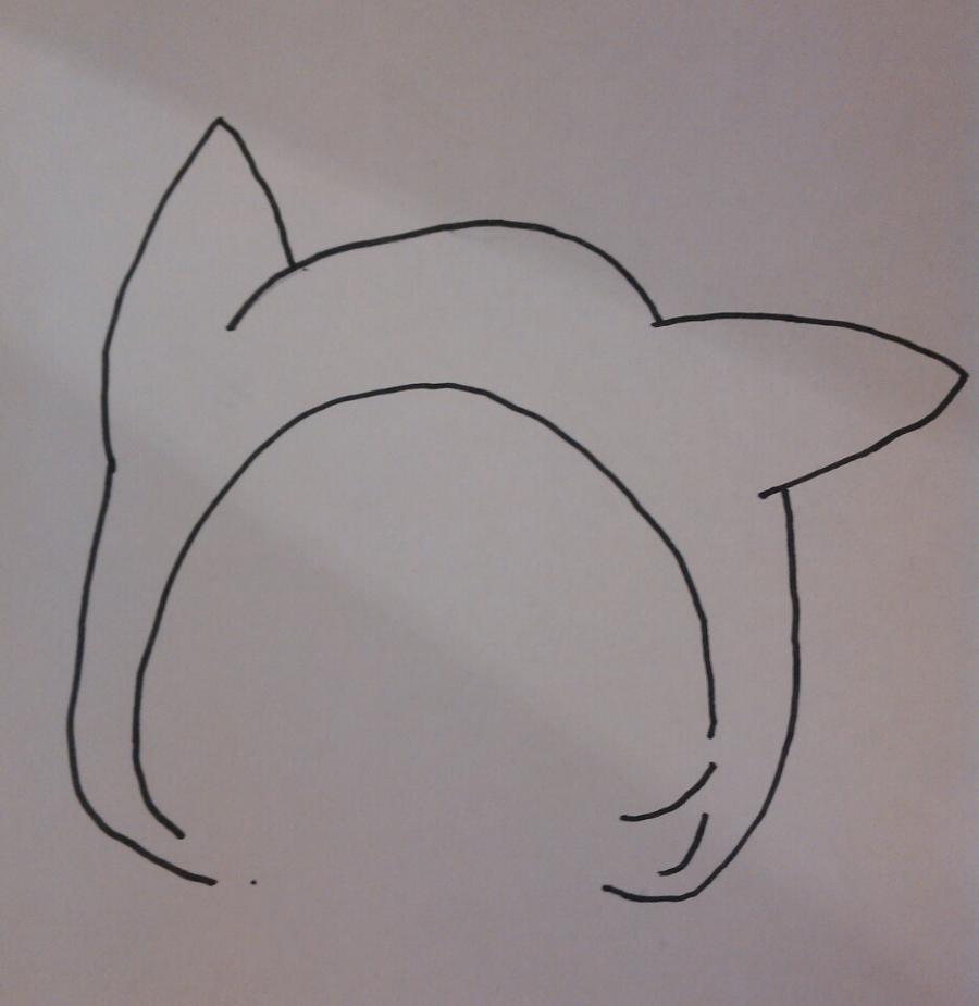 Рисуем чиби девочку в костюме пикачу - шаг 1