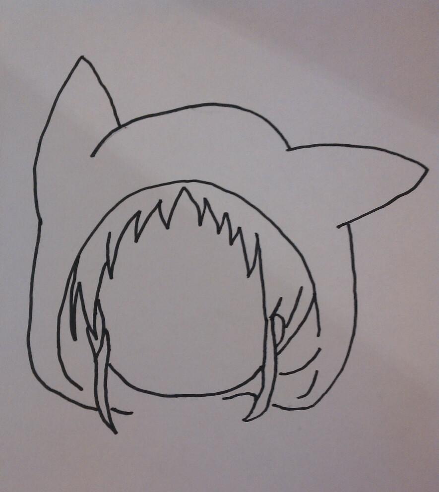 Рисуем чиби девочку в костюме пикачу - шаг 2