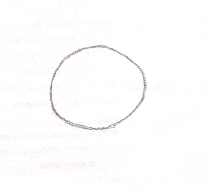 Рисуем чиби Финна из мультфильма Время приключений карандашами - шаг 1