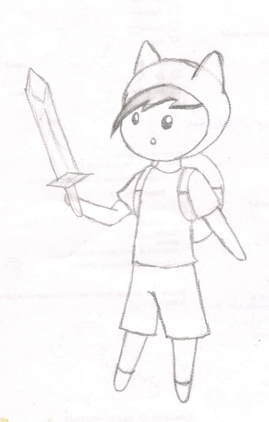 Как нарисовать чиби Финна из мультфильма Время приключений карандашами поэтапно - шаг 10