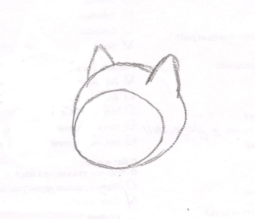 Рисуем чиби Финна из мультфильма Время приключений карандашами - шаг 2