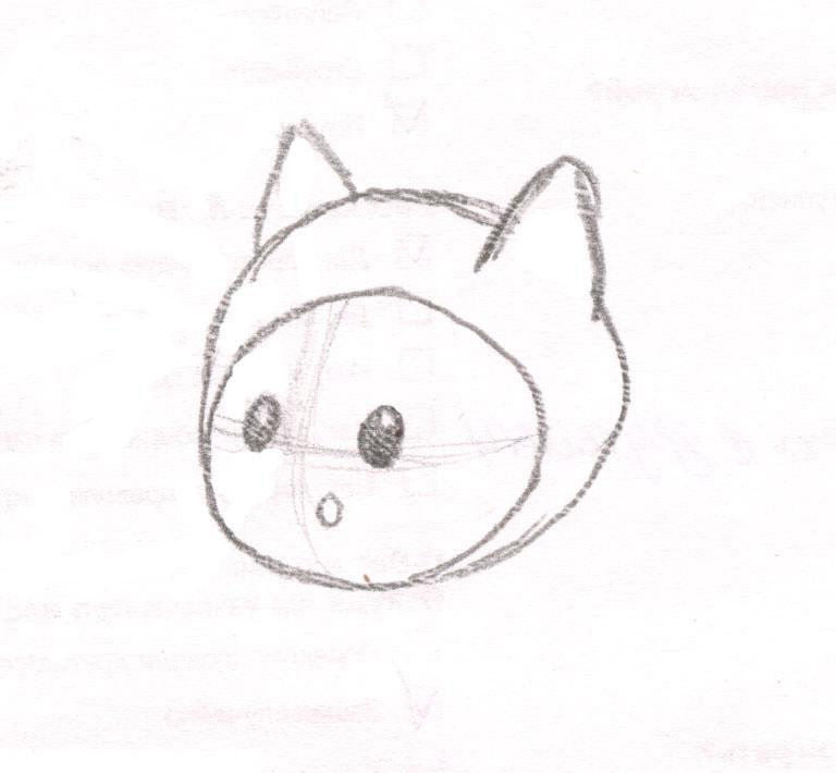 Как нарисовать чиби Финна из мультфильма Время приключений карандашами поэтапно - шаг 3