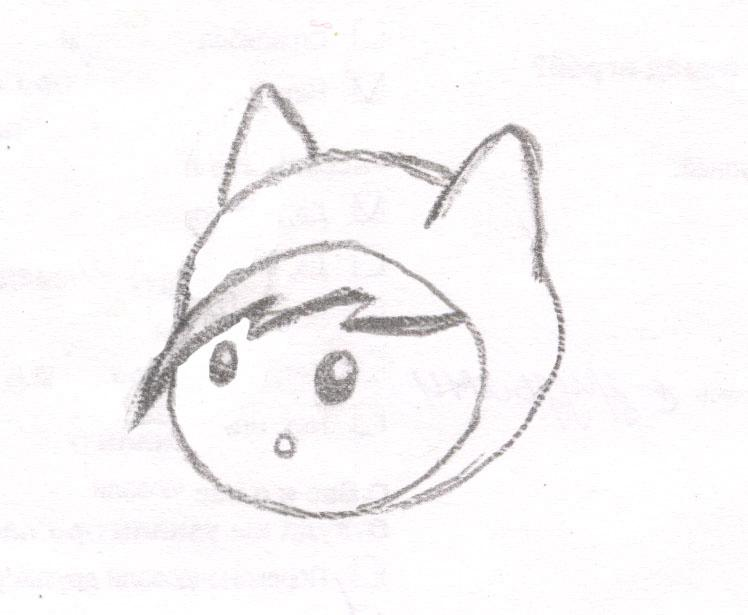 Как нарисовать чиби Финна из мультфильма Время приключений карандашами поэтапно - шаг 4