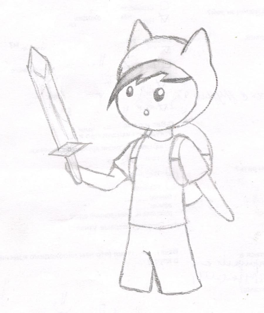 Как нарисовать чиби Финна из мультфильма Время приключений карандашами поэтапно - шаг 9
