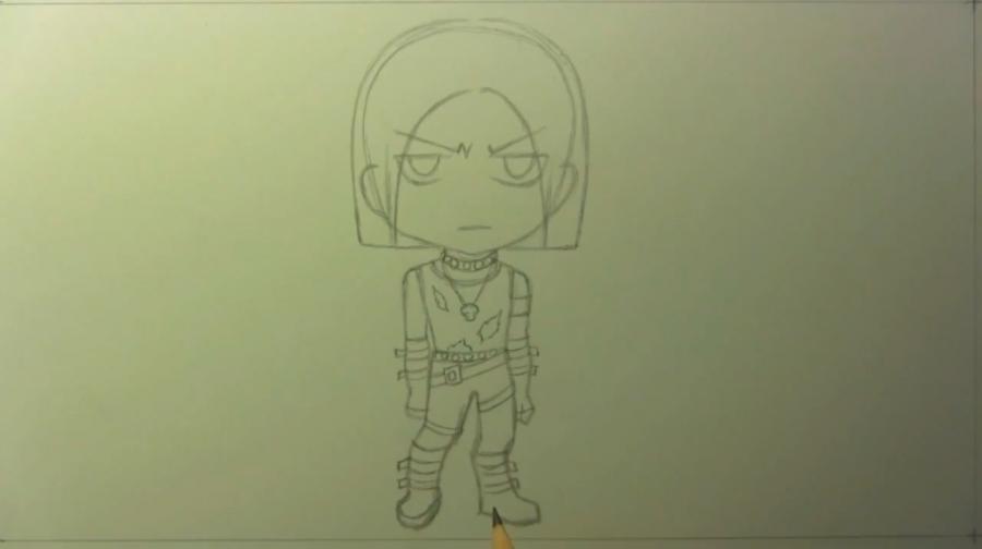 Как нарисовать чиби гангстера карандашом поэтапно