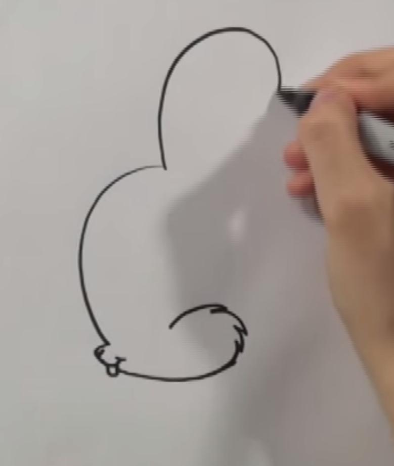 Рисуем чиби кролика - шаг 1