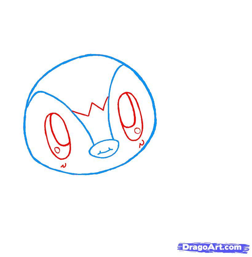 Рисуем чиби пингвина - шаг 3