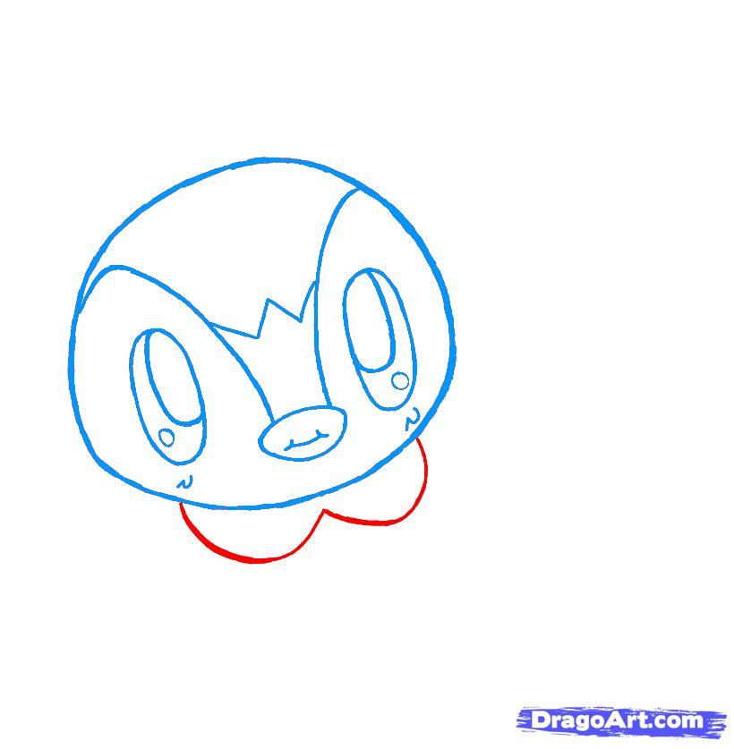 Как нарисовать чиби пингвина карандашом поэтапно