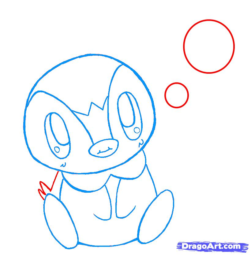 Рисуем чиби пингвина - шаг 7