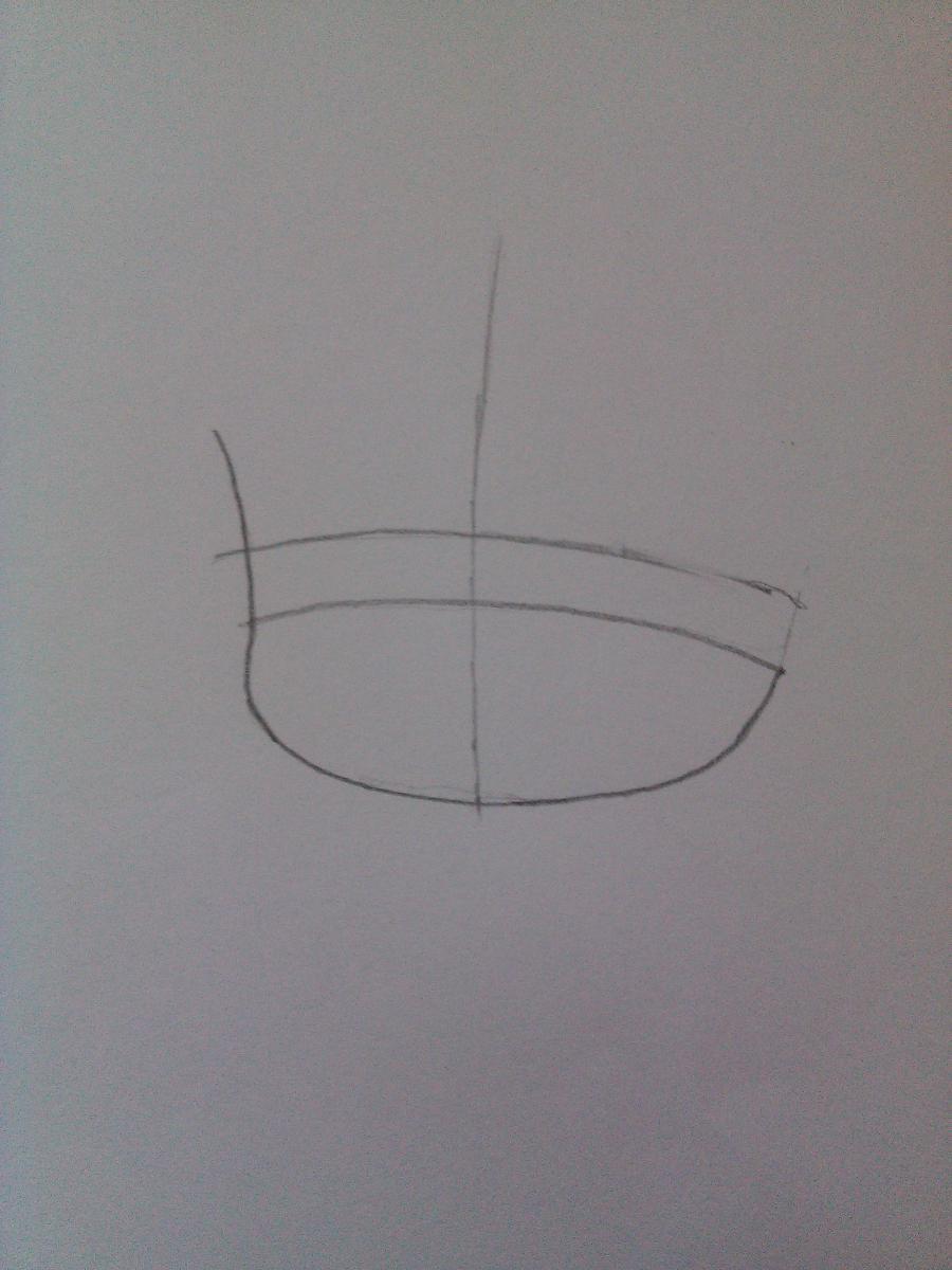 Рисуем Рин Кагамине в стиле чиби простым - шаг 1