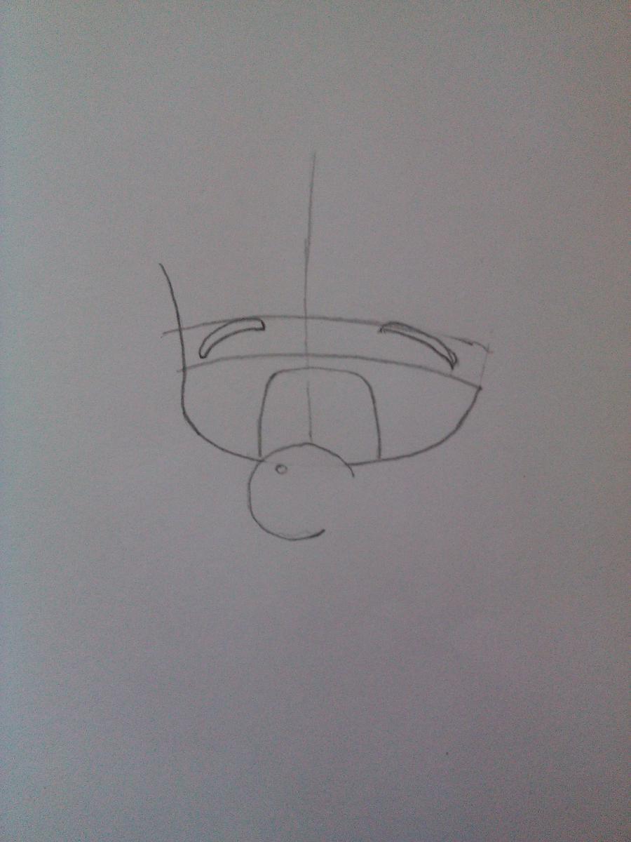 Рисуем Рин Кагамине в стиле чиби простым - шаг 2