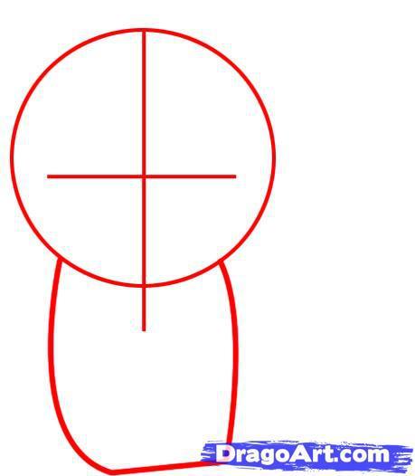 Рисуем чиби спайдермена - шаг 1