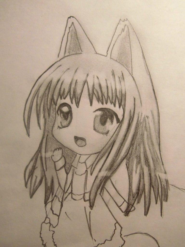 Рисуем волчицу карандашом