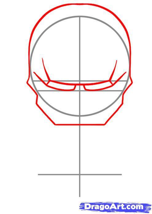 Рисуем чиби Железный человек