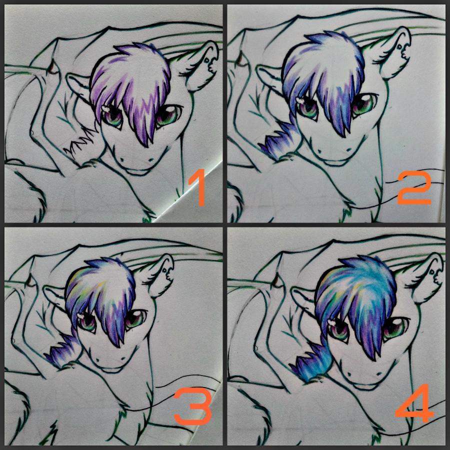 Рисуем дракона в стиле чиби карандашами и ручкой - шаг 12
