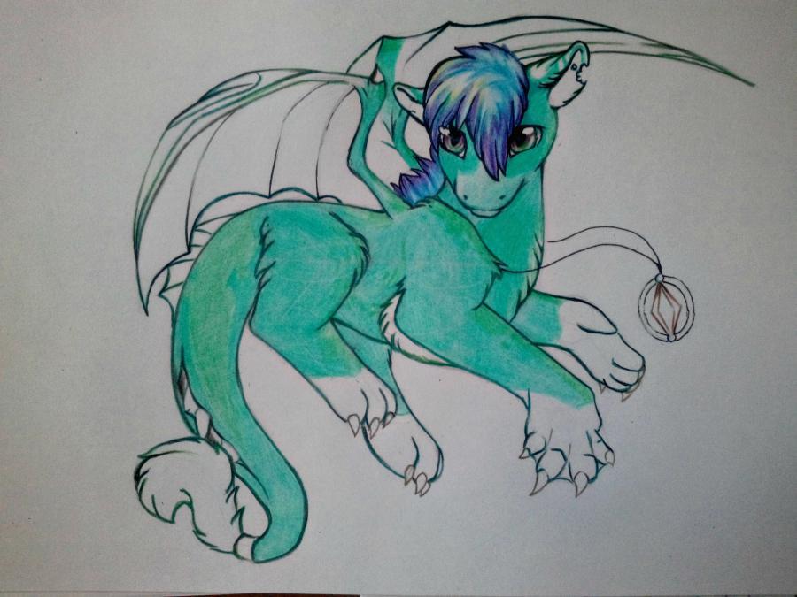 Рисуем дракона в стиле чиби карандашами и ручкой - шаг 13