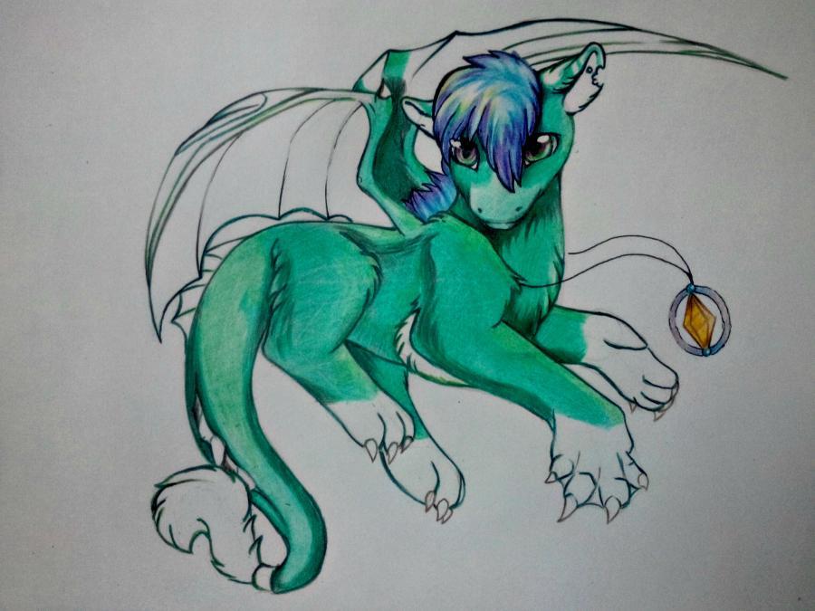 Рисуем дракона в стиле чиби карандашами и ручкой - шаг 14