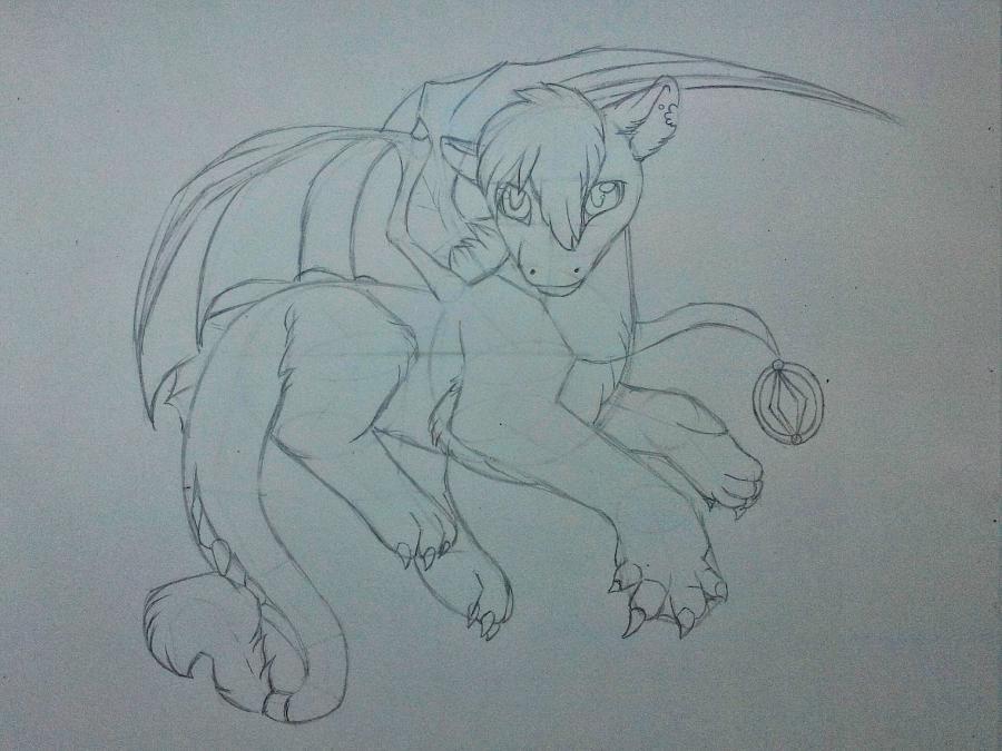 Рисуем дракона в стиле чиби карандашами и ручкой - шаг 9