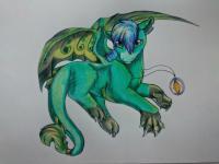 Фотография дракона в стиле чиби