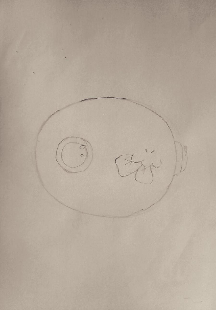 Рисуем дракончика с клевером - шаг 2