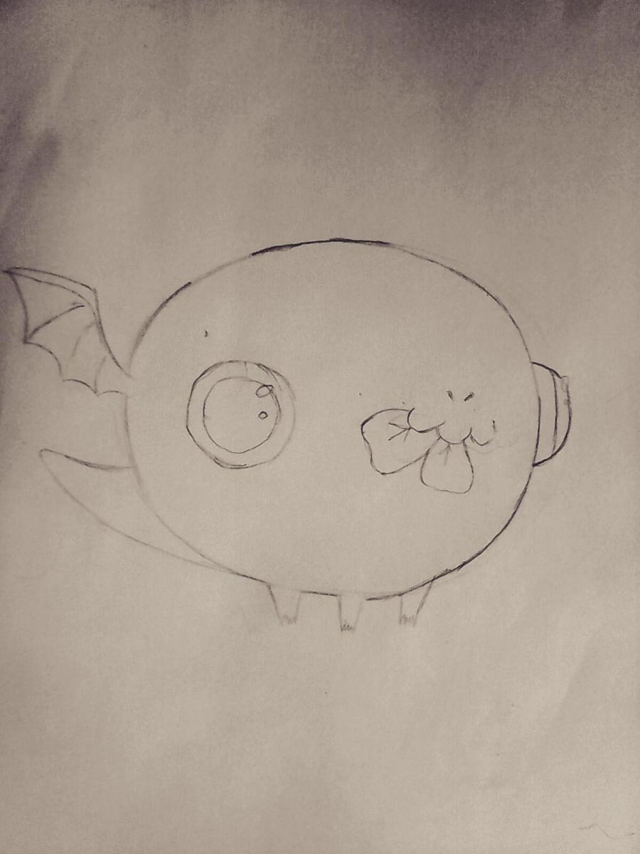 Рисуем дракончика с клевером - шаг 3