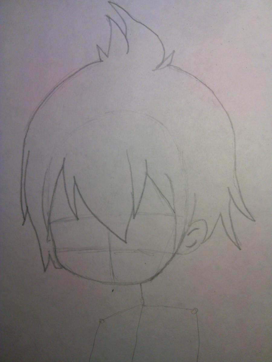 Рисуем и раскрасить Зерефа в стили Чиби - шаг 3