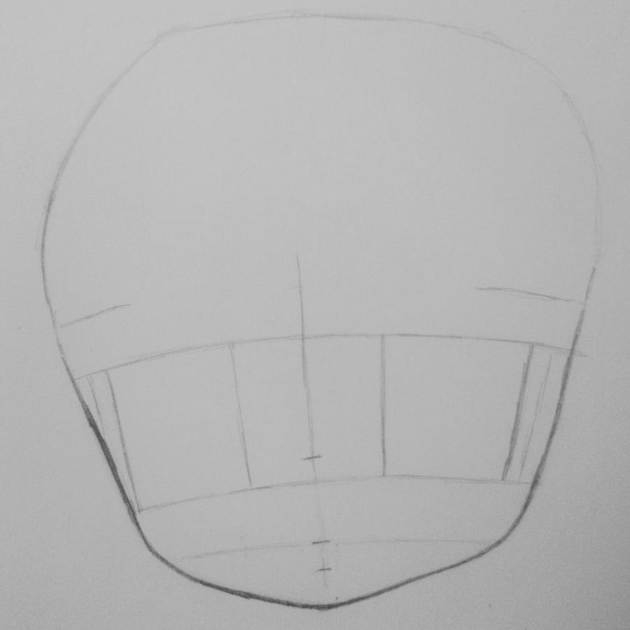 Рисуем и раскрасить девочку в стиле чиби карандашами - шаг 1